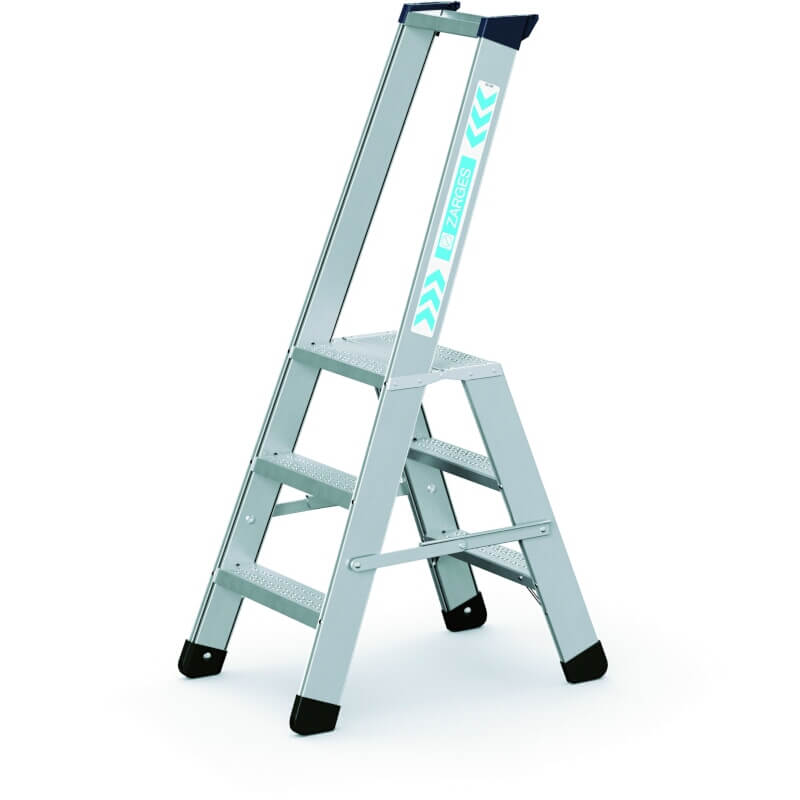 5 Stufen ZARGES Stufen-Stehleiter mit Sicherheitsplattform Seventec S
